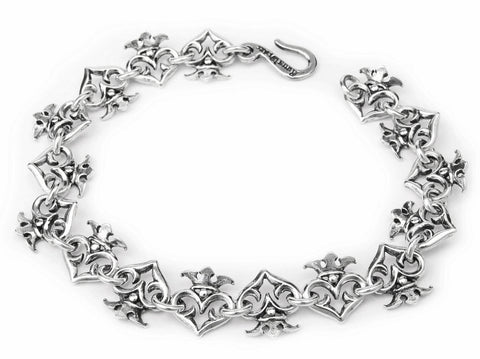 ALTERNATED CROWNED HEARTS BRACELET