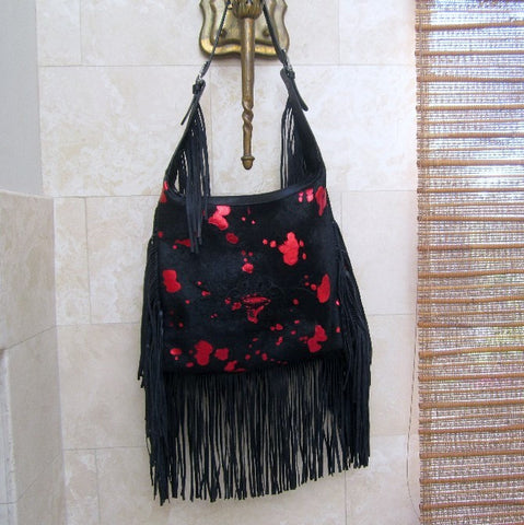 ROYAL ORDER LEATHER FRINGE HANDBAG