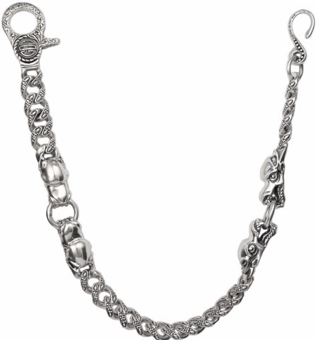 4 DRAGONS & CHAIN LINKS WALLET CHAIN