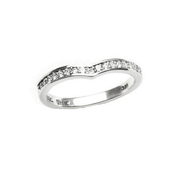 DELICATE TIARA BAND RING w/ PAVÉ DIAMONDS