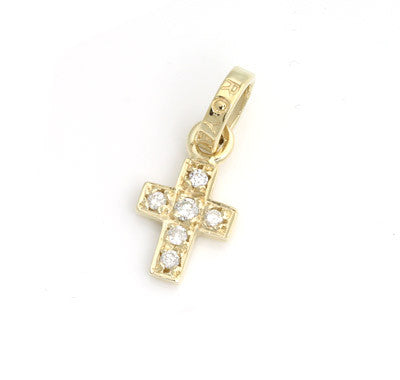 CROSS PENDANT w/ RO JUMPRING w/ DIAMONDS