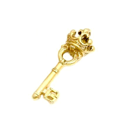SMALL KEY CHARM - PLAIN