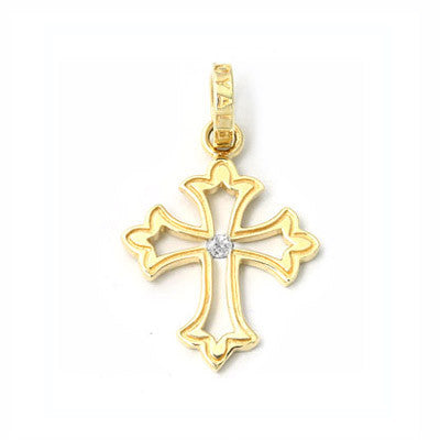 BORDER CROSS PENDANT w/ DIAMOND