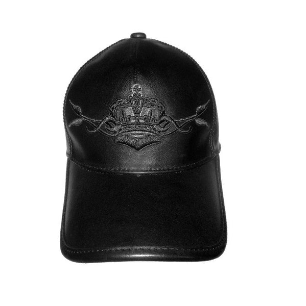 ROYAL ORDER FULL LEATHER BASEBALL CAP w/ CROWN & VINE AND ROYAL ORDER
