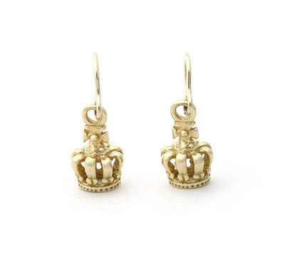 TINY ROYAL CROWN EARRINGS ON HOOK