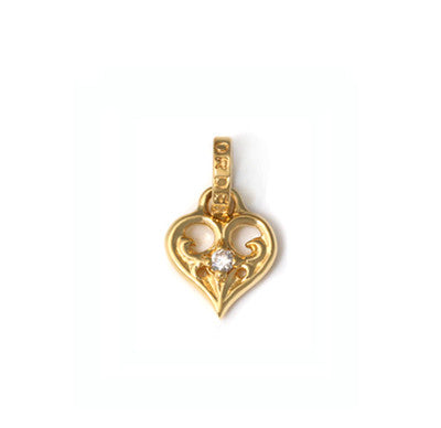 SMALL ALLEGRA HEART PENDANT w/ DIAMOND