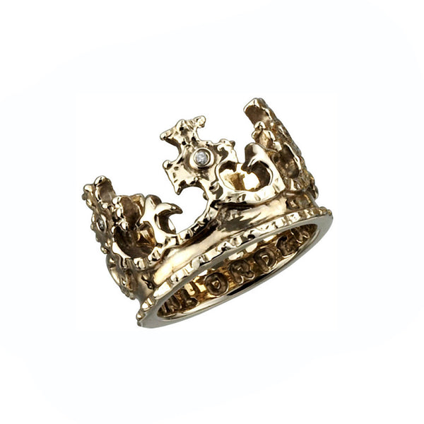 ROYAL CROWN RING w/ DIAMONDS