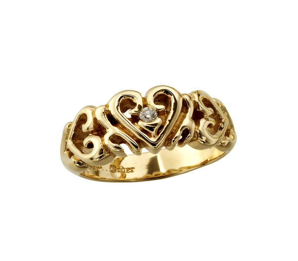 HEART BAND w/ DIAMOND RING