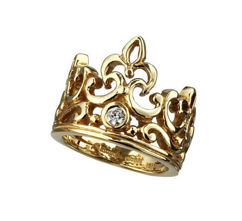 OPEN TIARA RING w/ DIAMOND
