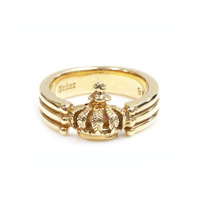 CROWN TRIPLE BAND RING