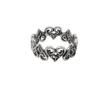 ALTERNATING TINY ALLEGRA HEARTS RING