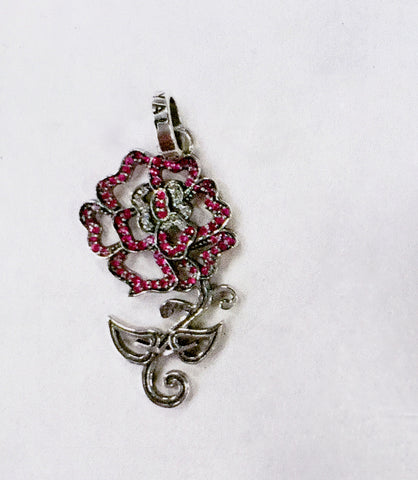 SPPAS01-PCZ ROSE TATTOO PENDANT