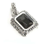 GOD SQUARE PENDANT w/ ONYX