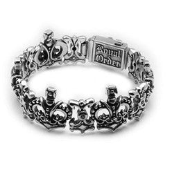 SMALL QUEEN CROWN TRELLIS BRACELET w/ CZs
