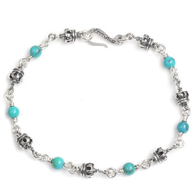 SMALL CROWN BRACELET w/ TURQUOISE