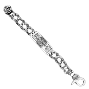 ID ROYAL ORDER BRACELET w/ CROWN CLASP