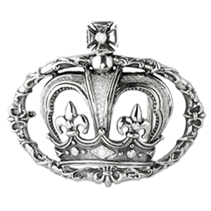 CROWN IN FLEUR DE LIS VINE BELT BUCKLE w/ PAVÈ CUBIC ZIRCONIA