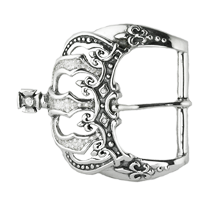 CROWN BELT BUCKLE w/ PAVÉ CUBIC ZIRCONIA