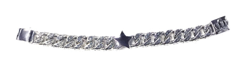 SBPS10-1 STAR LINKS WITH ONE STAR & CROWN CLIP BRACELET