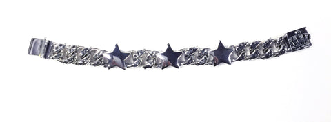 SBPS01-3 STAR LINKS with THREE STARS BRACELET