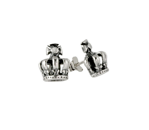 HALF TINY CROWN EARRINGS w/ STUD