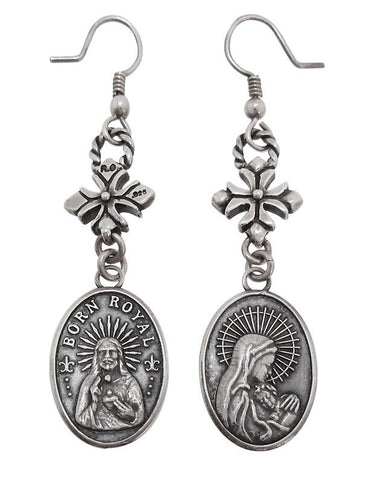 MADONNA EARRINGS w/ CROSS HOOK