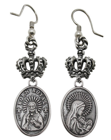 MADONNA EARRINGS w/ CROWN HOOK