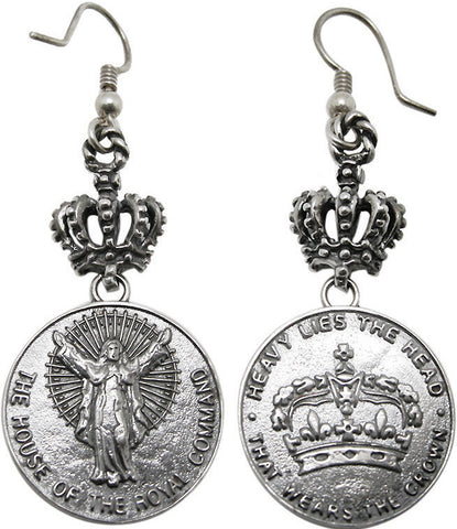 HOUSE CROWN EARRINGS w/ CROWN HOOK
