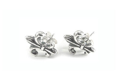 TINY FLEUR DE LIS EARRINGS w/ STUDS