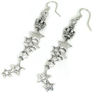 STARSHINE CONSTELLATION EARRINGS w/ TINY CROWN