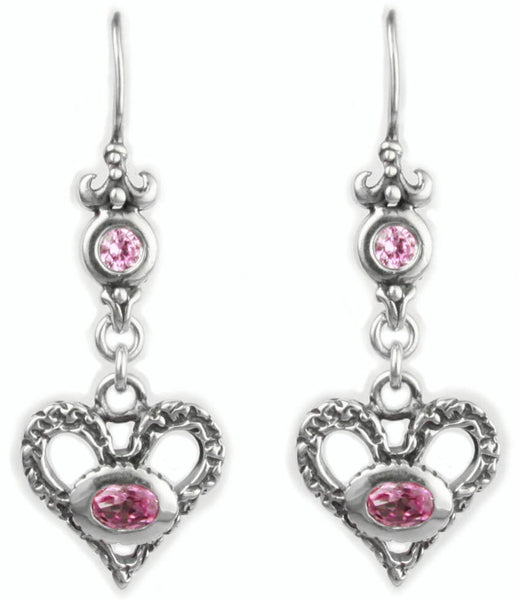 ETERNAL HEART EARRINGS w/ CZ