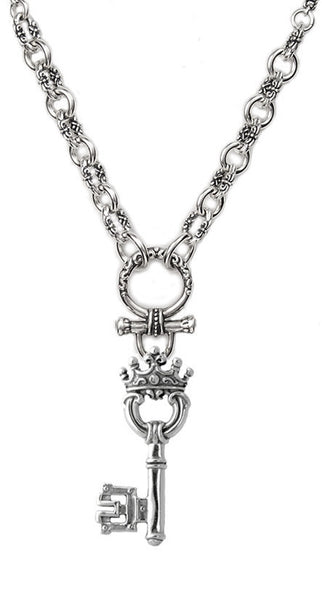 PEEZY CHAIN & SP04 LARGE CROWNED KEY & SP14 CHARM DROP