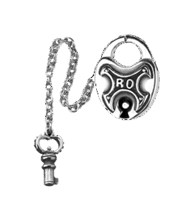 RO LOCKET & KEY PENDANT