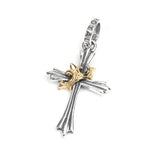 SISTINE CROSS PENDANT w/ 18K GOLD CROWN