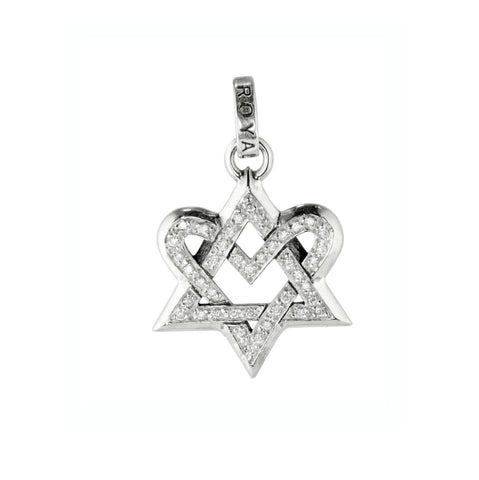 DEVOTION STAR MEDIUM PENDANT w/ PAVÉ CZ
