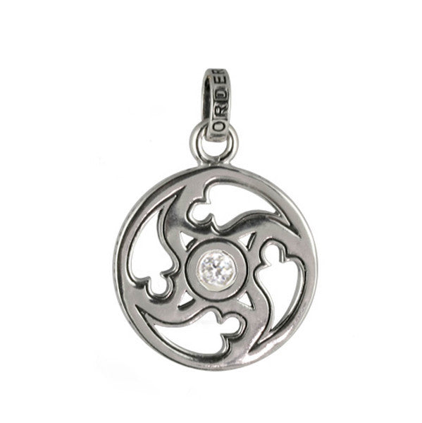 EASTERN STAR COIN PENDANT w/ CZ