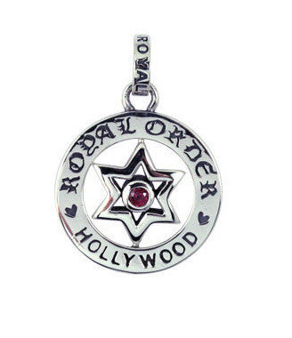 RO EMBLEM PENDANT w/ STAR OF DAVID w/ CZ