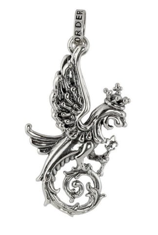 WINGED LION GRIFFIN w/ STAFF PENDANT