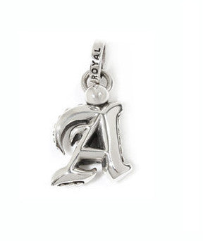 OLD ENGLISH INITIALS PENDANT