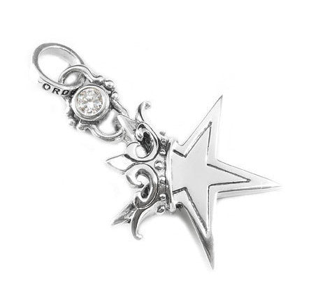 STAR w/ CROWN PENDANT w/ CZ JUMPRING
