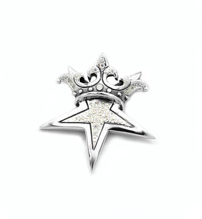 STAR w/ CROWN PENDANT w/ PAVÉ CZ