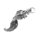 TWISTED FEATHER PENDANT w/ CROWN