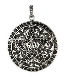 MAGESTIQUE CIRCLE PENDANT w/ STAR & CROWN