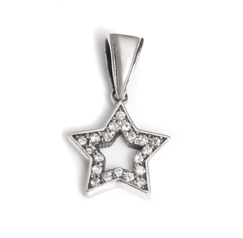 SERENDIPITY STAR PENDANT w/ DIAMONDS