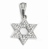 NEW STAR OF DAVID PENDANT w/ PAVÉ CZ