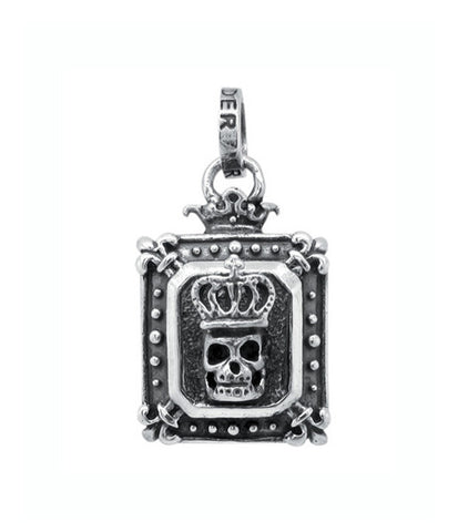 DEMI GOD SQUARE w/ CROWN SKULL PENDANT