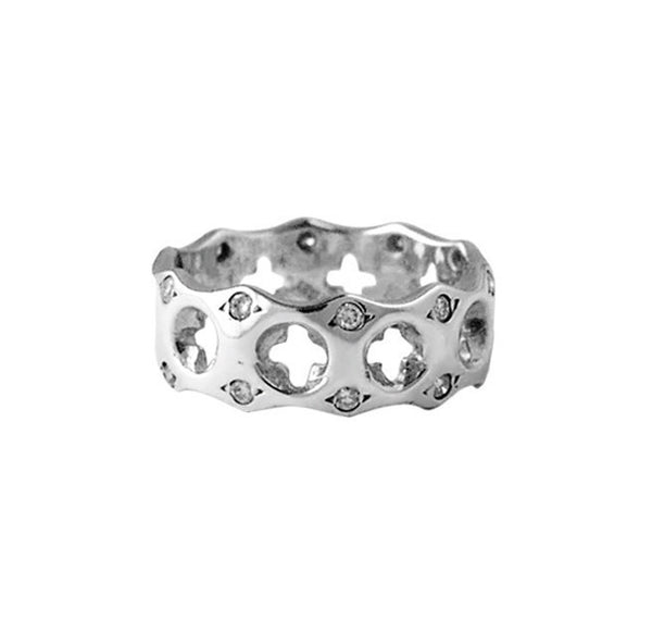 HOLY CROSS RING w/ DIAMONDS