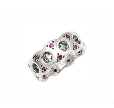 HOLY CROSS RING w/ RUBIES OR SAPPHIRES