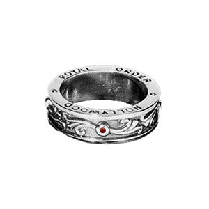 VERONA BAND RING w/ RUBIES OR SAPPHIRES
