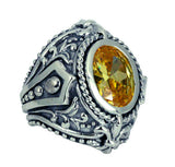 LARGE TABERNACLE RING w/ CZ